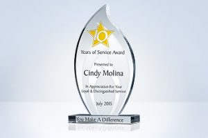 5-category-flame-long-service-award-plaque